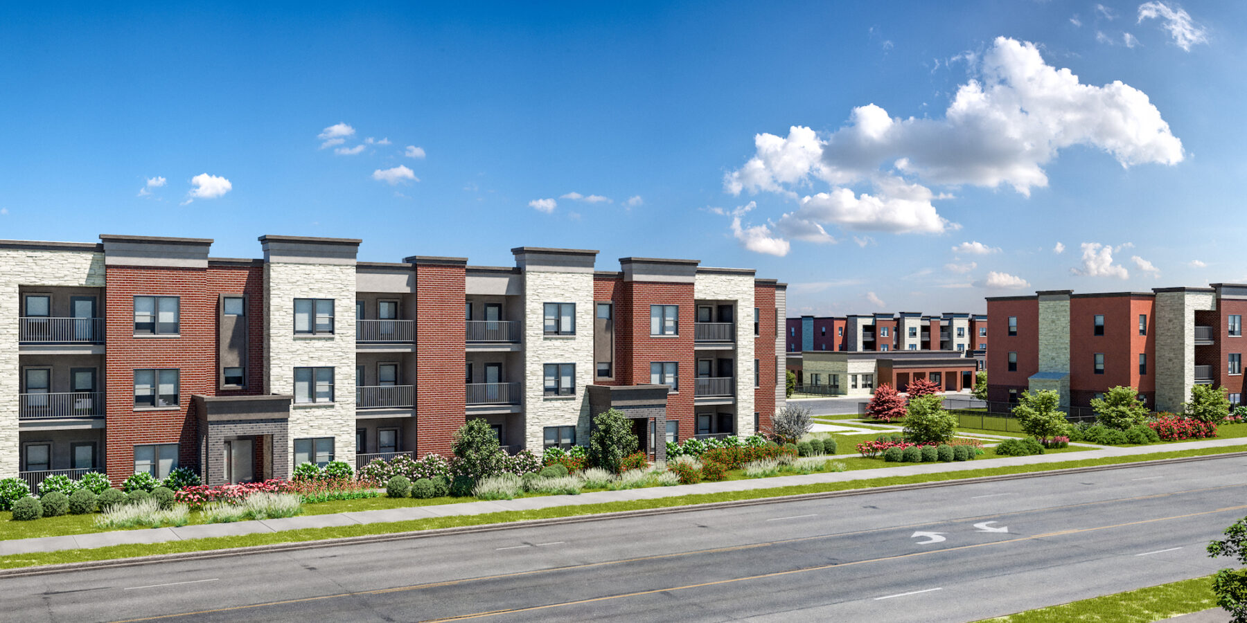 RD1 Union at Wiley - Front Exterior annex group affordable housing development